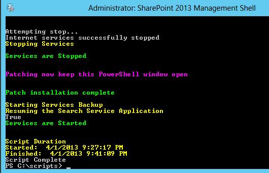 SharePoint 2013 Cumulative Updates – Installationszeit verkürzen