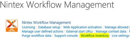 Workflow-Verwaltung in Nintex