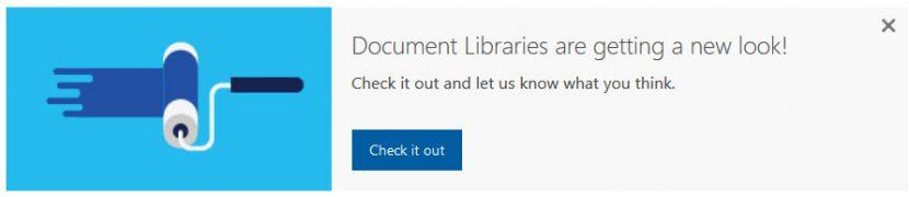 Dokumentbibliotheken bekommen ein neues Aussehen!