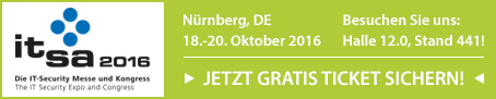COPiTOS ist dabei! it-sa 18.- 20. Oktober 2016 Messezentrum Nürnberg