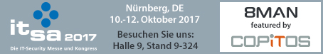 it-sa Nürnberg 10.-12. Oktober 2017 – Trends und Innovationen der IT-Security